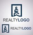 realty logo 3 3 vector image
