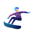 riding snowboarder vector image