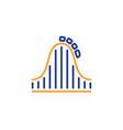 roller coaster line icon amusement park sign vector image