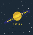 SATURN space view vector image vector image