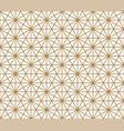 seamless pattern based on kumiko pattern vector image vector image
