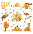 Set Of Autumn Related Objects vector image