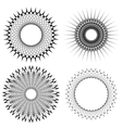 Set of Circle Geometric Ornaments vector image vector image