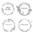 set of new year frames with vector image vector image
