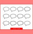 set talk bubbles speech blank empty bubble icon vector image vector image