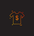 shirt icon design vector image vector image
