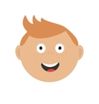Smiling boy head Cute cartoon character with red vector image vector image