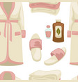 spa seamless pattern massage oil bathrobe and vector image vector image