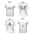 t-shirt template set for men and women vector image vector image