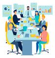team work conference meeting business talking vector image vector image