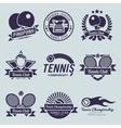 Tennis Label Black vector image vector image
