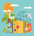 travel vacation flat design set concept vector image vector image
