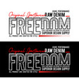 typography freedom sport slogan for t-shirt vector image vector image