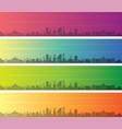 ulaanbaatar multiple color gradient skyline banner vector image vector image