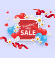 valentines day sale and special offer with 50 vector image vector image