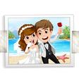Wedding photo vector image vector image
