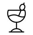 wide cocktail glass icon outline style vector image vector image