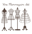 Wire Mannequin Set flat vector image