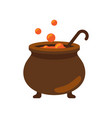closeup of witch cauldron on vector image