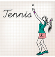 Tennis players sketch vector image