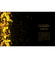 Abstract golden background with explosion vector image vector image