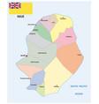 administrative map island niue vector image vector image