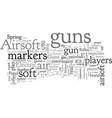 airsoft guns air soft guns vector image vector image