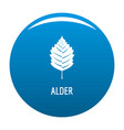 alder leaf icon blue vector image vector image