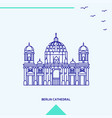 berlin cathedral skyline vector image