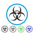 bio hazard rounded icon vector image vector image