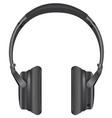 black modern headphones vector image vector image