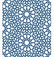 blue islamic pattern seamless arabic geometric vector image