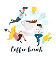 businessman with coffee cup vector image