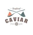 caviar emblem vector image vector image