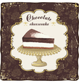 Chocolate cheesecake vector image vector image