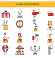 Circus Line Icons Set vector image