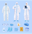 collection protective equipment for medical staff vector image