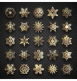 collection snowflakes icons isolated on vector image
