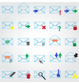 computer mail simple outline blue icons eps10 vector image vector image