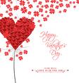 Dandelion hearts Greeting Card vector image vector image