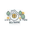 eco home logo template design ecologic home sign vector image vector image