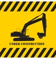 Excavator Work Under Construction vector image vector image