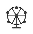 ferris wheel icon amusement park related solid vector image