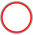 generic red prohibition restriction sign road vector image vector image