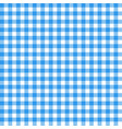 gingham seamless pattern blue italian tablecloth vector image vector image
