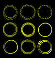 hand drawn scribble circles frames neon elements vector image