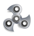 hand spinner toy hand spinning machine rotation vector image vector image