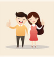 happy man and pregnant woman vector image