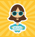hippie man concept peace and love vector image vector image