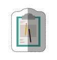 Isolated document and pencils design vector image vector image